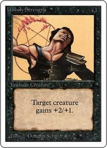 Magic the Gathering Unlimited Edition Single Card Common Unholy Strength
