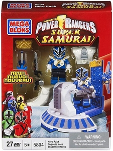 Power Rangers Super Samurai Mega Bloks Set #5804 Blue Ranger Hero Pack