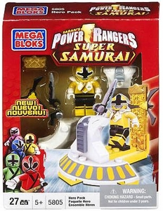 Power Rangers Super Samurai Mega Bloks Set #5805 Gold Ranger Hero Pack