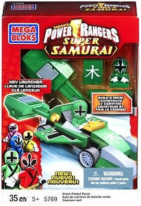 Power Rangers Super Samurai Mega Bloks Set #5769 Green Pocket Racer