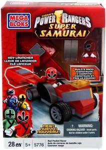 Power Rangers Super Samurai Mega Bloks Set #5776 Red Pocket Racer
