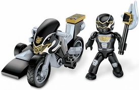 Power Rangers Megaforce Mega Bloks Set #5828 Black Ranger Hero Racer