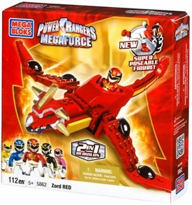 Power Rangers Megaforce Mega Bloks Set #5862 Red Dragon Mechazord