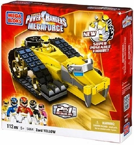 Power Rangers Megaforce Mega Bloks Set #5864 Yellow Tiger Mechazord