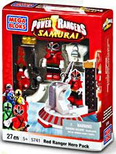 Power Rangers Samurai Mega Bloks Set #5741 Red Hero Pack Damaged Package!