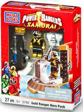 Power Rangers Samurai Mega Bloks Set #5742 Gold Hero Pack