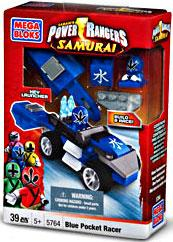 Power Rangers Samurai Mega Bloks Set #5764 Blue Pocket Racer