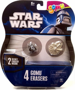 Star Wars Gomu Erasers 4-Pack [Includes 2 Secret Erasers]