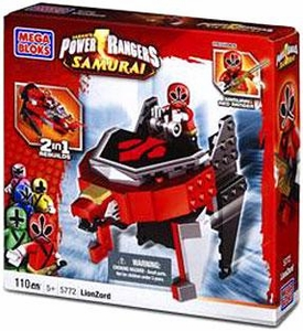 Power Rangers Samurai Mega Bloks Set #5772 LionZord [Red]