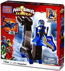 Power Rangers Samurai Mega Bloks Set #5773 DragonZord [Blue]