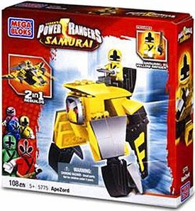 Power Rangers Samurai Mega Bloks Set #5775 ApeZord [Yellow]