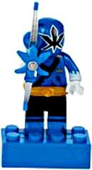 Power Rangers Samurai Mega Bloks LOOSE Mini Figure Blue Ranger