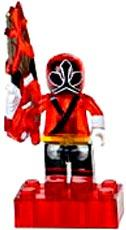 Power Rangers Samurai Mega Bloks LOOSE Mini Figure Translucent Red Ranger