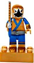 Power Rangers Samurai Mega Bloks LOOSE Mini Figure Metallic Gold Ranger