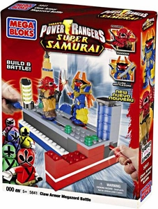 Power Rangers Samurai Mega Bloks Set #5824 Claw Battlezord Vs. Mooger