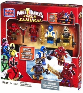 Power Rangers Samurai Mega Bloks Exclusive Set #5858 Battle Pack 1 [Xandred, Mooger, Blue Ranger & Translucent Gold Ranger]