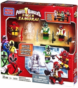 Power Rangers Samurai Mega Bloks Exclusive Set #5859 Battle Pack 2 [Mooger, Red Ranger, Green Ranger & Transparent Deker]