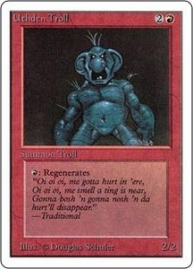 Magic the Gathering Unlimited Edition Single Card Uncommon Uthden Troll