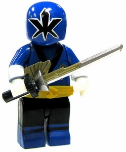 Power Rangers Super Samurai Mega Bloks LOOSE Mini Figure Metallic Samurai Blue Ranger