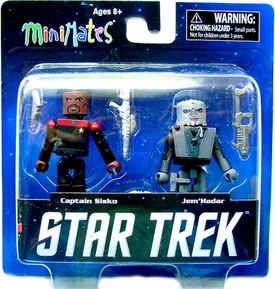 Star Trek Legacy Minimates Series 1 Mini Figure 2-Pack Season 7 Captain Sisko & Jem Hadar Pre-Order ships July