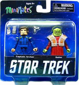 Star Trek Legacy Minimates Series 1 Mini Figure 2-Pack Captain Archer & Dolim Pre-Order ships April
