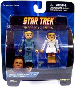 Star Trek Diamond Select Toys Series 5 Minimates Commander Decker & Ilia Probe
