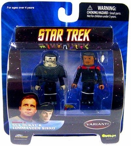 Star Trek Diamond Select Toys Series 5 Minimates Gul Dukat & Commander Sisko [Variant]