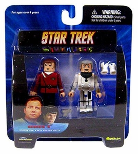 Star Trek Diamond Select Toys Series 4 Minimates Admiral Kirk & Duty Uniform Scotty