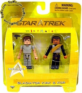Star Trek Minimates Series 3 Mini Figure 2-Pack Gladiator Kirk & Kor