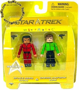Star Trek Minimates Series 3 Mini Figure 2-Pack Space Seed Khan & Dress Uniform Kirk