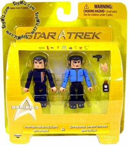 Star Trek Minimates Series 3 Mini Figure 2-Pack Ambassador Sarek & Dress Uniform Spock
