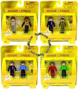 Star Trek Diamond Select Toys Series 3 Set of 4 Minimates 2-Packs [Includes Variant]