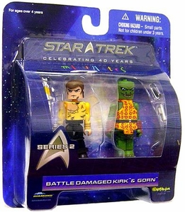 Diamond Select Toys Star Trek The Original Series MiniMates Series 2 Battle Damaged Kirk & Gorn