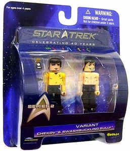 Diamond Select Toys Star Trek The Original Series MiniMates Series 2 Chekov & Sulu [Swashbuckling Sulu Variant]