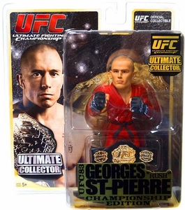 Round 5 UFC Ultimate Collector Series 8 Championship Edition Action Figure Georges St. Pierre [Championship Belt] BLOWOUT SALE!