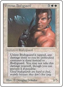 Magic the Gathering Unlimited Edition Single Card Rare Veteran Bodyguard
