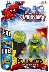 Ultimate Spider-Man Power Webs Action Figure Dragon Disc Iron Fist