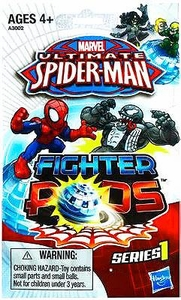 Ultimate Spider-man Fighter Pods Series 1 Mini Figure Mystery Bag [2 Figures & 1 Pod] Pre-Order ships April