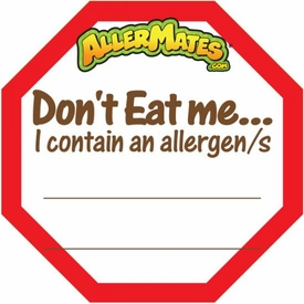 Allergy Alert Fill In Label for Food Packages 24 Pack