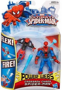 Ultimate Spider-man Power Webs Action Figure Crossbow Chaos Spider-Man Pre-Order ships April