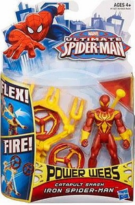Ultimate Spider-man Power Webs Action Figure Catapult Smash Iron Spider-Man Pre-Order ships April