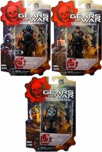 NECA Gears of War 3 3/4 Series 1 Set of 3 Action Figures [Marcus Fenix, Clay Carmine & Damon Baird]