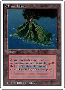 Magic the Gathering Unlimited Edition Single Card Rare Volcanic Island