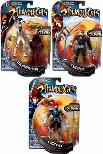 Bandai Thundercats Set of 3 Basic 4 Inch Action Figures Mumm-Ra, Tygra & Lion-O