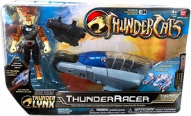 Bandai Thundercats 4 Inch Basic Vehicle with Action Figure ThunderRacer with Tygra