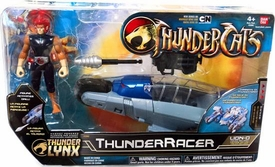 Bandai Thundercats 4 Inch Basic Vehicle with Action Figure ThunderRacer with Lion-O