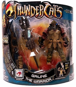 Bandai Thundercats 4 Inch DELUXE Action Figure Grune the Warrior [Thundercats Logo on Chest] Thundercats Logo On Chest!