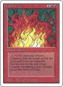 Magic the Gathering Unlimited Edition Single Card Uncommon Wall of Fire