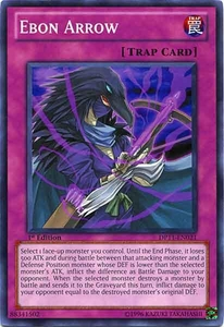 YuGiOh 5D's Duelist Pack Crow Single Card Common DP11-EN021 Ebon Arrow