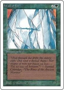 Magic the Gathering Unlimited Edition Single Card Uncommon Wall of Ice
